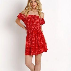 Faithfull The Brand Jardin Floral Dress Red Size 4